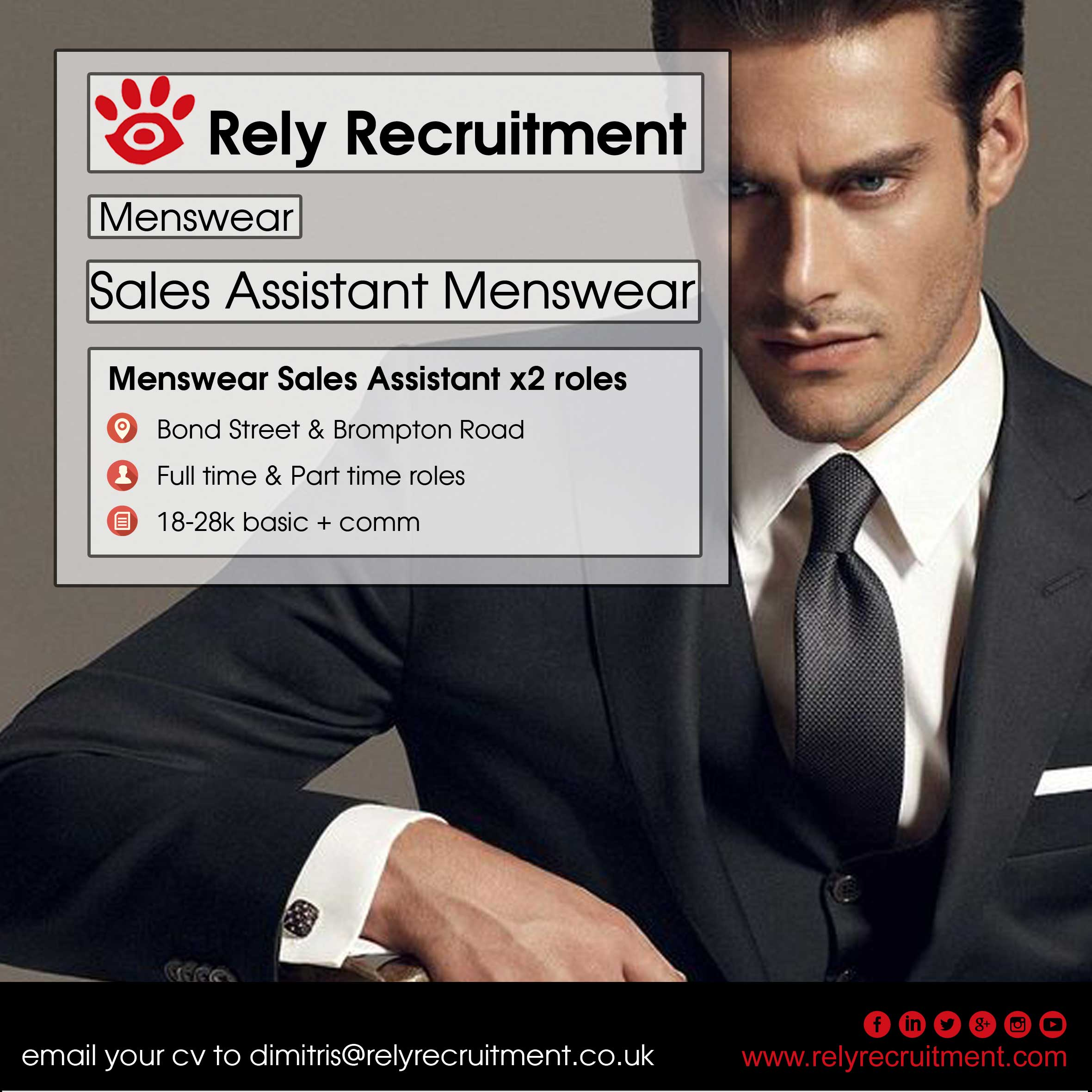 new luxury menswear s assistant rely recruitment luxury menswear s assistant rely recruitment