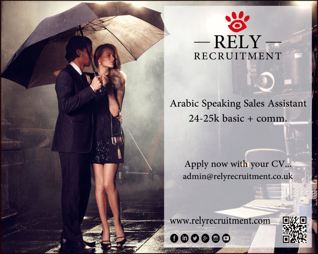 arabic speaking sales assistant