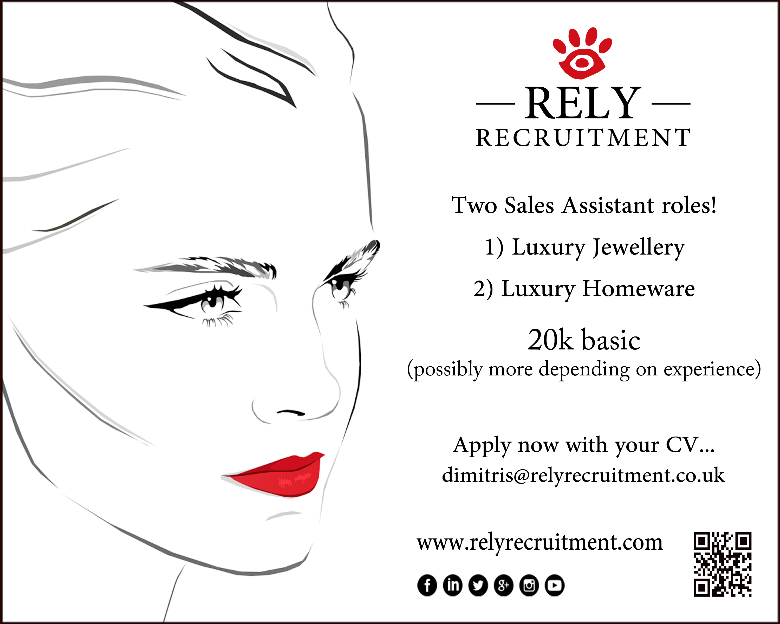 Luxury retail sales assistant - Rely Recruitment